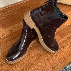 Zara Womens Italian Ankle Brown Boots